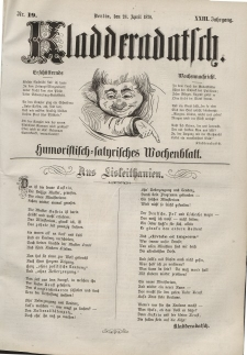 Kladderadatsch, 23. Jahrgang, 24. April 1870, Nr. 19