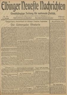 Elbinger Neueste Nachrichten, Nr. 123 Mittwoch 7 Mai 1913 65. Jahrgang