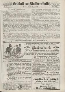 Kladderadatsch, 23. Jahrgang, 14. August 1870, Nr. 37 (Beiblatt)