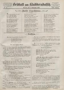 Kladderadatsch, 23. Jahrgang, 4. September 1870, Nr. 41 (Beiblatt)