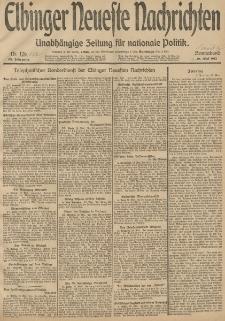Elbinger Neueste Nachrichten, Nr. 127 Sonntag 11 Mai 1913 65. Jahrgang