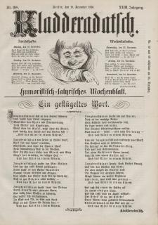 Kladderadatsch, 23. Jahrgang, 18. Dezember 1870, Nr. 58