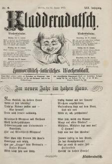 Kladderadatsch, 25. Jahrgang, 14. Januar 1872, Nr. 2