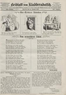 Kladderadatsch, 25. Jahrgang, 14. Januar 1872, Nr. 2 (Beiblatt)