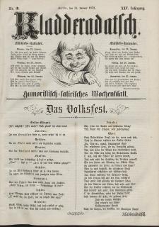 Kladderadatsch, 25. Jahrgang, 21. Januar 1872, Nr. 3