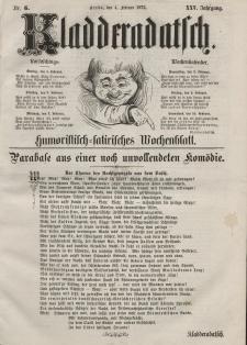 Kladderadatsch, 25. Jahrgang, 4. Februar 1872, Nr. 5
