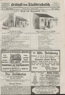 Kladderadatsch, 25. Jahrgang, 4. Februar 1872, Nr. 5 (Beiblatt)