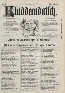 Kladderadatsch, 25. Jahrgang, 18. Februar 1872, Nr. 7
