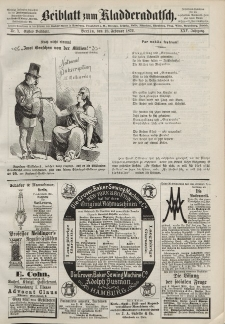 Kladderadatsch, 25. Jahrgang, 18. Februar 1872, Nr. 7 (Beiblatt)