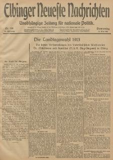Elbinger Neueste Nachrichten, Nr. 130 Donnerstag 15 Mai 1913 65. Jahrgang
