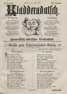 Kladderadatsch, 25. Jahrgang, 25. Februar 1872, Nr. 8/9