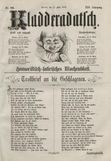 Kladderadatsch, 25. Jahrgang, 17. März 1872, Nr. 12