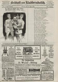 Kladderadatsch, 25. Jahrgang, 28. April 1872, Nr. 19 (Beiblatt)