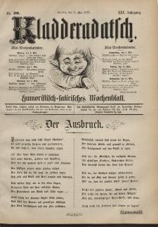 Kladderadatsch, 25. Jahrgang, 5. Mai 1872, Nr. 20