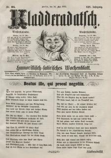 Kladderadatsch, 25. Jahrgang, 26. Mai 1872, Nr. 24
