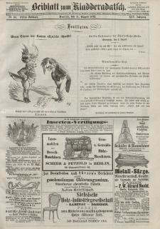 Kladderadatsch, 25. Jahrgang, 11. August 1872, Nr. 36 (Beiblatt)