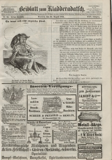 Kladderadatsch, 25. Jahrgang, 25. August 1872, Nr. 38 (Beiblatt)