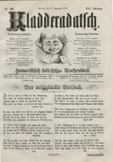 Kladderadatsch, 25. Jahrgang, 15. September 1872, Nr. 42