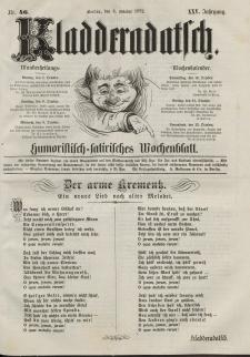 Kladderadatsch, 25. Jahrgang, 6. Oktober 1872, Nr. 46