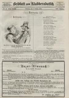 Kladderadatsch, 25. Jahrgang, 6. Oktober 1872, Nr. 46 (Beiblatt)