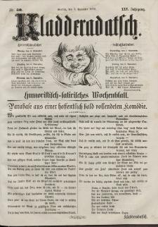 Kladderadatsch, 25. Jahrgang, 3. November 1872, Nr. 50