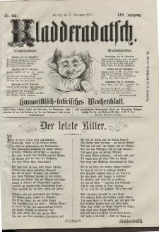 Kladderadatsch, 25. Jahrgang, 17. November 1872, Nr. 52