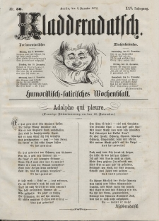 Kladderadatsch, 25. Jahrgang, 8. Dezember 1872, Nr. 56