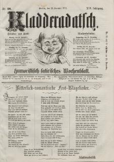 Kladderadatsch, 25. Jahrgang, 22. Dezember 1872, Nr. 58