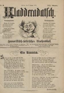 Kladderadatsch, 29. Jahrgang, 9. Januar 1876, Nr. 2