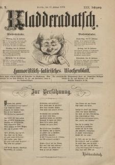 Kladderadatsch, 29. Jahrgang, 13. Februar 1876, Nr. 7