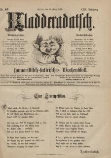 Kladderadatsch, 29. Jahrgang, 12. März 1876, Nr. 12