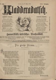 Kladderadatsch, 29. Jahrgang, 19. März 1876, Nr. 13