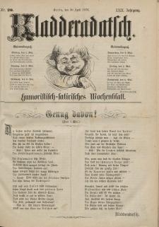 Kladderadatsch, 29. Jahrgang, 30. April 1876, Nr. 20
