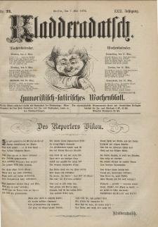 Kladderadatsch, 29. Jahrgang, 7. Mai 1876, Nr. 21