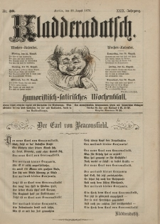 Kladderadatsch, 29. Jahrgang, 20. August 1876, Nr. 39