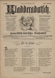 Kladderadatsch, 29. Jahrgang, 12. November 1876, Nr. 53