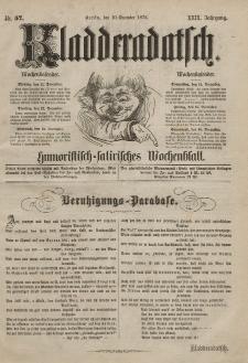 Kladderadatsch, 29. Jahrgang, 10. Dezember 1876, Nr. 57