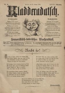 Kladderadatsch, 38. Jahrgang, 18. Januar 1885, Nr. 4