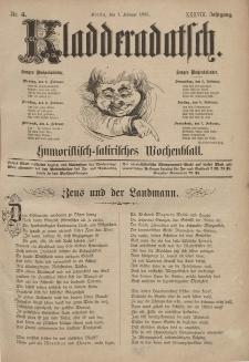 Kladderadatsch, 38. Jahrgang, 1. Februar 1885, Nr. 5