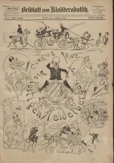 Kladderadatsch, 38. Jahrgang, 1. Februar 1885, Nr. 5 (Beiblatt)