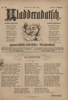 Kladderadatsch, 38. Jahrgang, 8. März 1885, Nr. 11