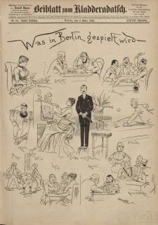 Kladderadatsch, 38. Jahrgang, 8. März 1885, Nr. 11 (Beiblatt)