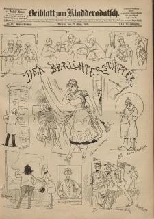 Kladderadatsch, 38. Jahrgang, 22. März 1885, Nr. 13 (Beiblatt)