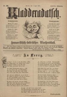 Kladderadatsch, 38. Jahrgang, 5. April 1885, Nr. 16