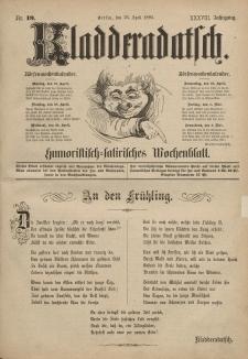 Kladderadatsch, 38. Jahrgang, 26. April 1885, Nr. 19