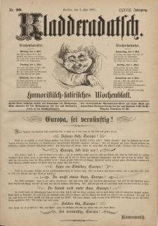 Kladderadatsch, 38. Jahrgang, 3. Mai 1885, Nr. 20