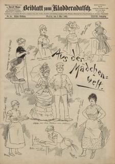 Kladderadatsch, 38. Jahrgang, 3. Mai 1885, Nr. 20 (Beiblatt)