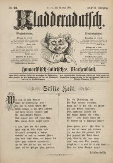 Kladderadatsch, 38. Jahrgang, 31. Mai 1885, Nr. 25