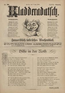 Kladderadatsch, 38. Jahrgang, 7. Juni 1885, Nr. 26