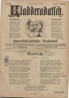 Kladderadatsch, 38. Jahrgang, 14. Juni 1885, Nr. 27